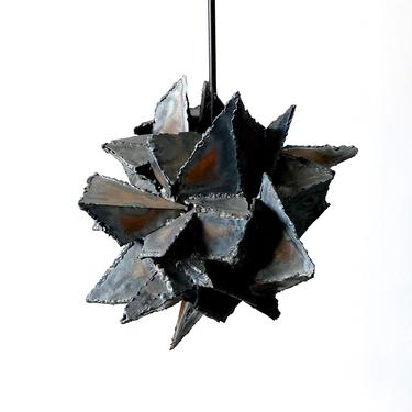 Vintage Abstract Brutalist Hanging Pendant Sculpture 1970s by 20cModern