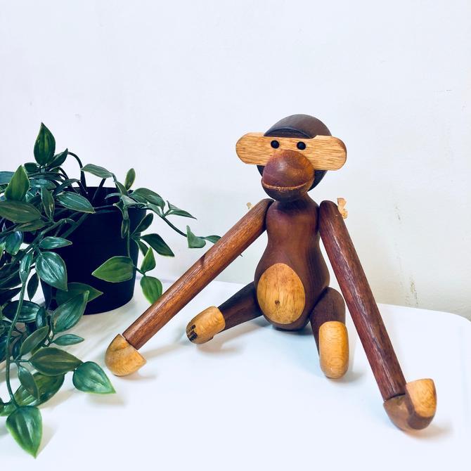 Vintage Toy Monkey Toy Wooden Monkey Wooden Toy Denmark Bojesen