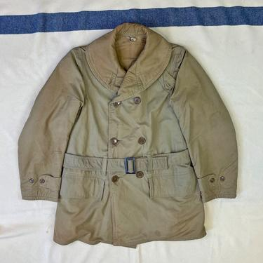 Size M Vintage US Army M-1938 2nd Pattern Shawl Collar Belted Mackinaw Jeep Jacket Coat by BriarVintage