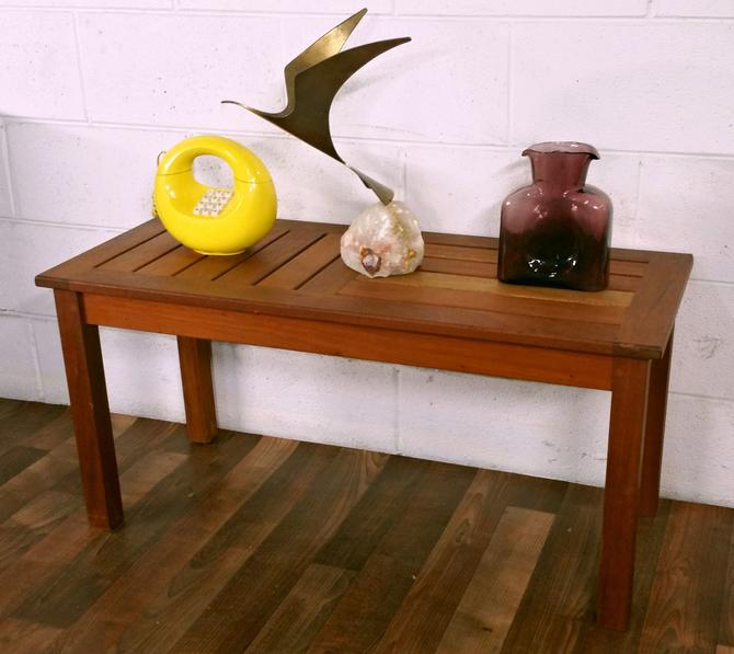 Handsome Solid Teak Danish Mid Century Bench Coffe