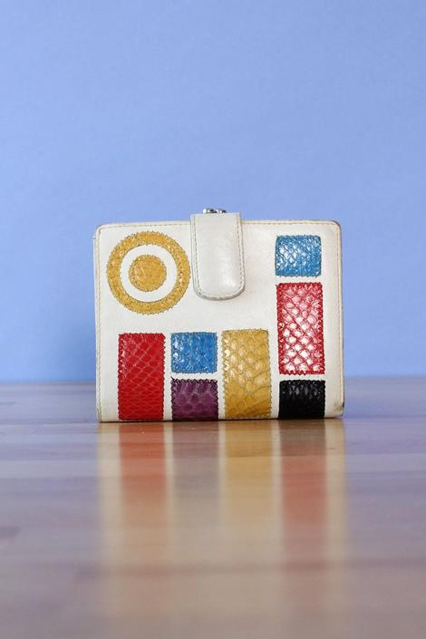 Falchi Modernist Leather Wallet