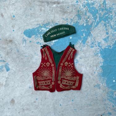 Vintage Kids Carlsbad Caverns Souvernir Costume Hat & Vest by NorthGroveAntiques