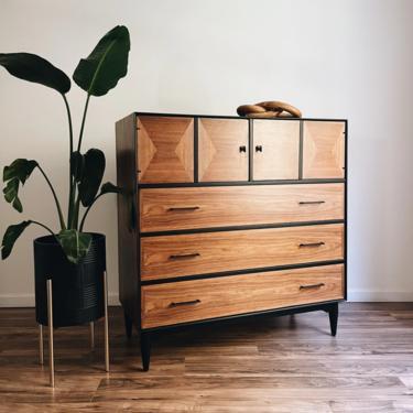 Two-Tone Tallboy Dresser - MCM Armoire by madenewdesignct