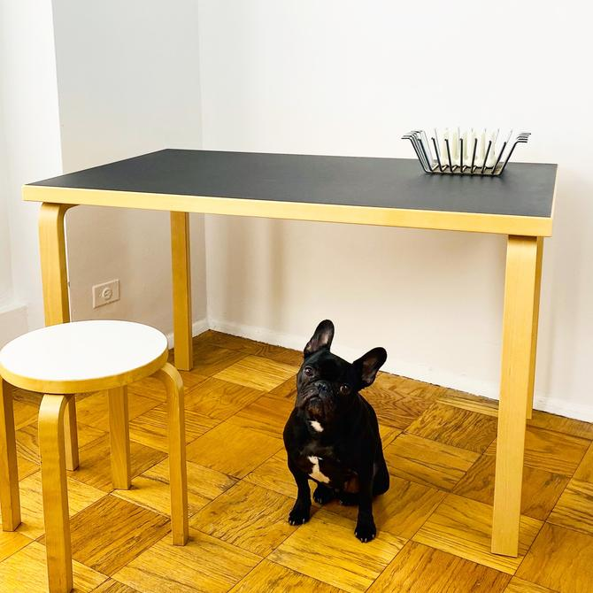 Alvar Aalto 81B Birch/ Black Linoleum Table