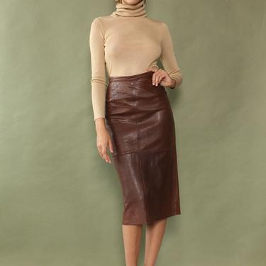 Buttery Leather Pencil Skirt M