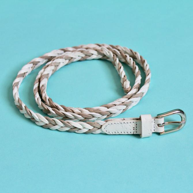 Braided Belt Beige & White The Limited L/XL by BeggarsBanquet