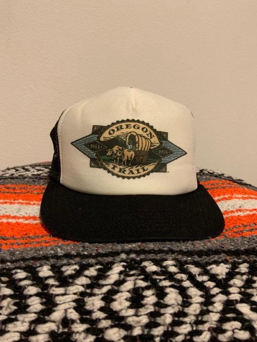 Vintage Snapback Trucker Hat Oregon Trail 80s-90s by DesertCactusVintage