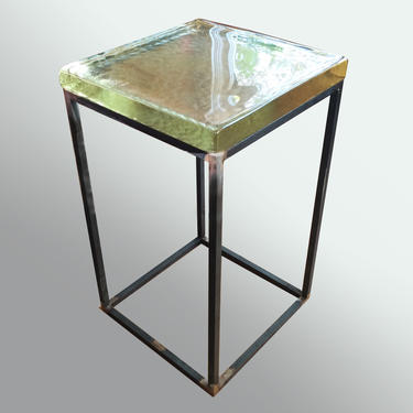 Modern Glass Top Side Table, Minimalist End Table, Contemporary Furniture, Custom Furniture, Modern Living Room Furniture by LucasAhlstrand