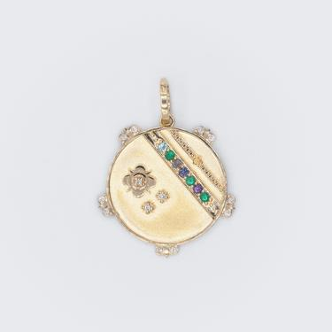 """Mountain Medallion With Florets - 7 Stones - """"Believe"""""""