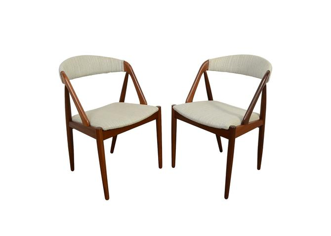 Kai Kristiansen Dining Chairs Set Of 8 Model 31 Danish Modern by HearthsideHome