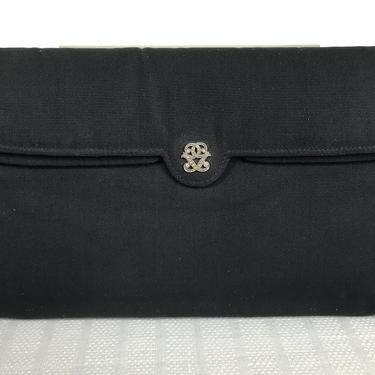 Germaine Guerin Paris Silk Faille Evening Double Flap Bag 1950s
