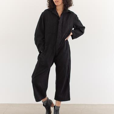 Vintage 40s Overdye Black Cotton Coverall   Jump Suit Jumpsuit   Canada Onesie Mechanic   Boilersuit Boiler Suit   S M by RAWSONSTUDIO