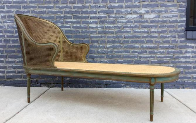 Vintage Cane Chaise