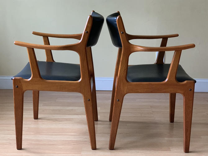 ONE Danish Teak Dining armchair, Scandinavian Woodworks Teak Dining Chair with arms, desk chair by ASISisNOTgoodENOUGH