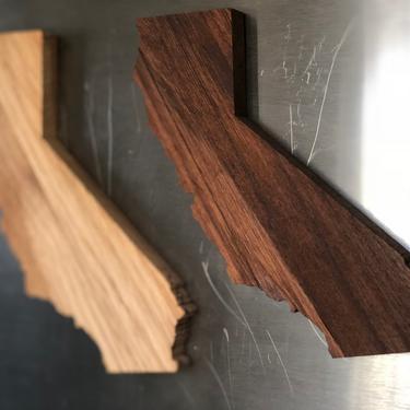Handmade California Refrigerator Magnet Hardwood by FifteenDegree