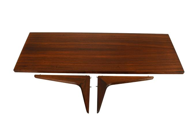 "Rosewood Shelve 12"" and Brackets by HG Furniture Hansen Guldborg Danish Modern by HearthsideHome"