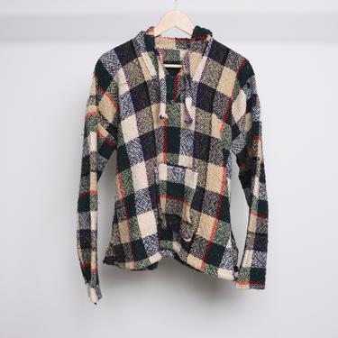 vintage color block BAJA hoodie point break 1990s grunge sweatshirt hoodie surf pullover -- size medium by CairoVintage