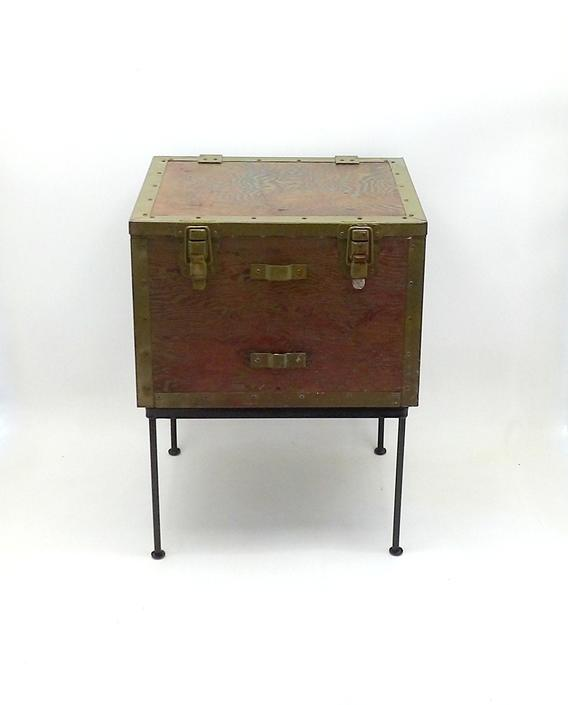 Admirable 1940S Wwii End Table Coffee Table Trunk Military Army Gmtry Best Dining Table And Chair Ideas Images Gmtryco