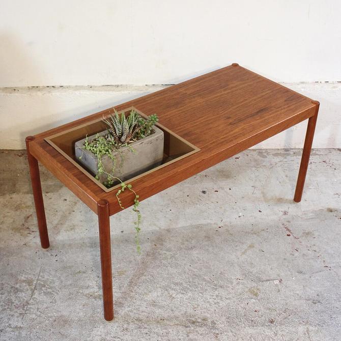 Swedish Teak Planter Coffee Table