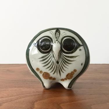Jorge Wilmot Folk Art Pottery Owl from Tonala Mexico by TheThriftyScout
