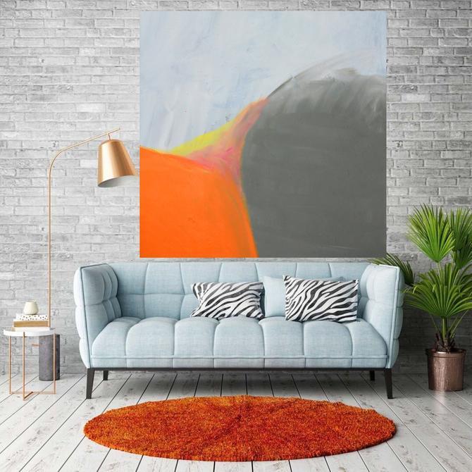 "Sale-Minimal Wall Art, Modern Home Decor, 36""x36"" Canvas Painting Abstract Minimalist Modern Original Contemporary Artwork Commission Art by ArtbyDinaD"