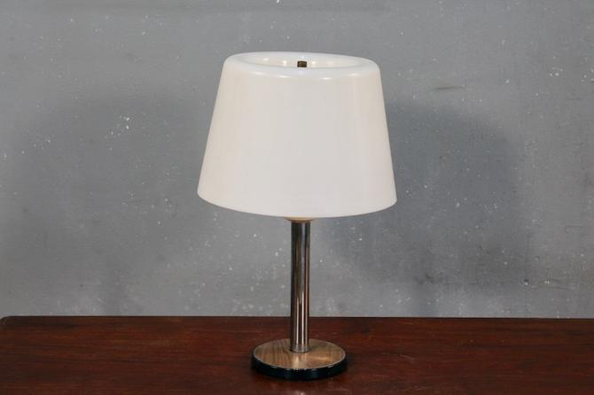 Retro Chrome & Acrylic Table Lamp