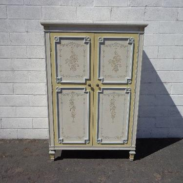 Armoire Closet Storage Dresser Chest of Drawers Highboy Vintage Traditional Tallboy Regency French Provincial Chic CUSTOM PAINT AVAIL by DejaVuDecors