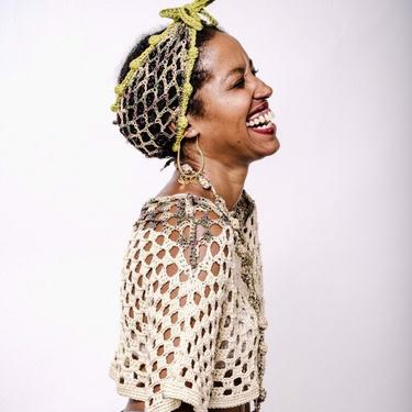 Sojourn Bandana in Camouflage & Olive, Hemp Headband/Crochet Mesh Headband/Hemp Turban/Hemp Headwrap by KonjoCrochet