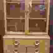 Item #DM322 Mid Century Deco Cabinet / Bookcase c.1950s