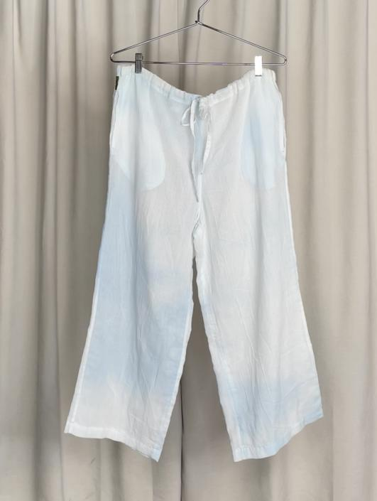 Vintage Designer Giorgio Armani Cloud Print Sheer Lounge Trousers