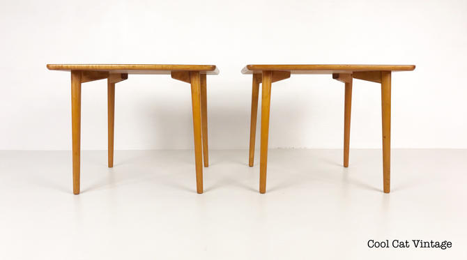 Pair of Lightweight Modern Teak End Tables by Dux of Sweden, Circa 1960s - *Please see notes on shipping before you purchase. by CoolCatVintagePA