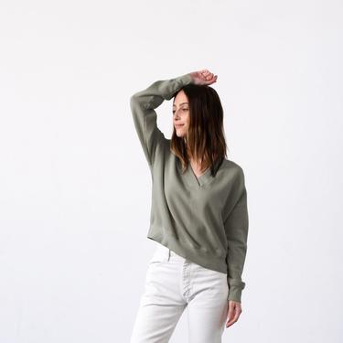 V Neck Terry Sweatshirt (multiple colors)