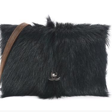 Vintage CHANEL CC Turlock WOC Wallet on Chain Hunter Green Fur / Suede Leather Crossbody Clutch Shoulder Bag by MoonStoneVintageLA