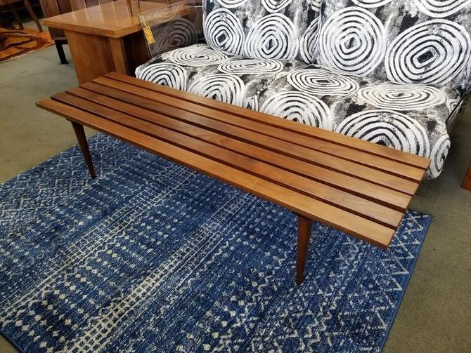 Mid-Century Modern slat bench / coffee table