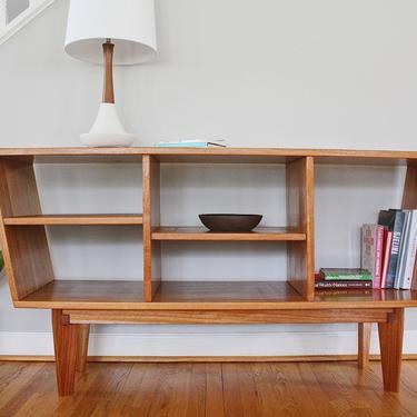 Open Credenza or Sideboard - Danish Modern, Mid-Century Modern Inspiration by AvocationHardwoods