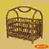Burnt Bamboo Magazine Rack
