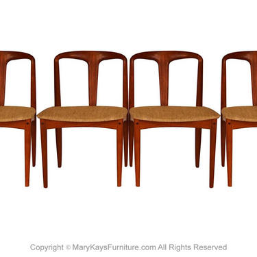 Johannes Andersen Danish Teak Mid Century Juliane Dining Chairs by Marykaysfurniture