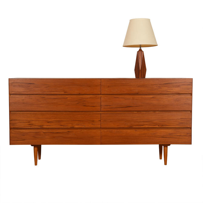 Danish Modern Teak 8-Drawer Dresser