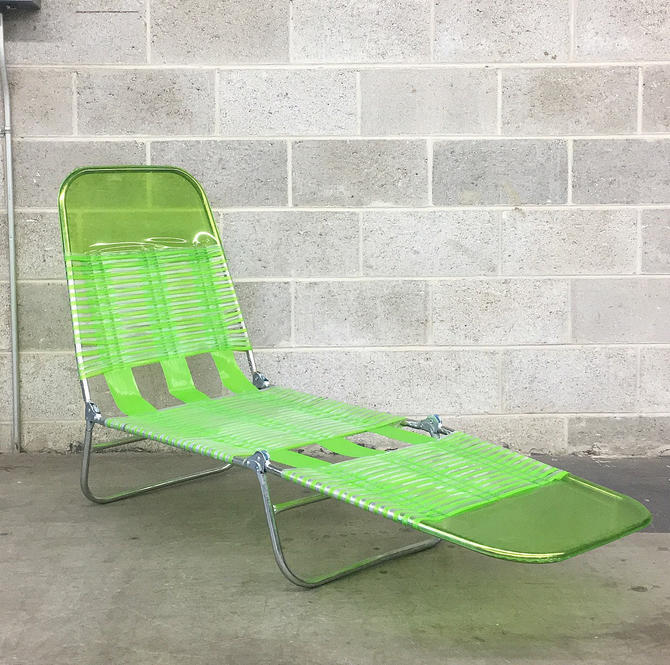 LOCAL PICKUP ONLY ———— Vintage Plastic Chaise Lounge by RetrospectVintage215