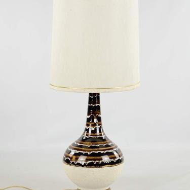 1970's Mid-Century Modern Ceramic Drip Table Lamp by BluffStProps