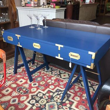 Gorgeous blue campaign desk!