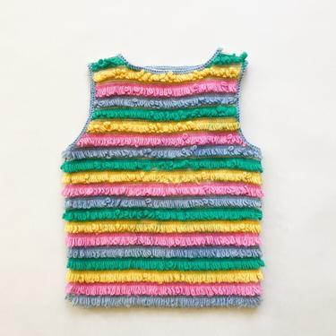 1950s Jantzen Fringed Wool Sweater Vest by waywardcollection