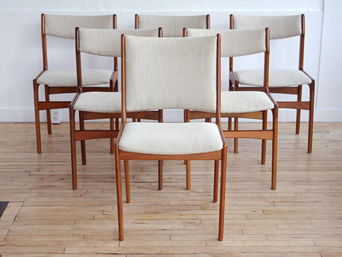 Set of 5 Scandinavian Teak Dining Chairs