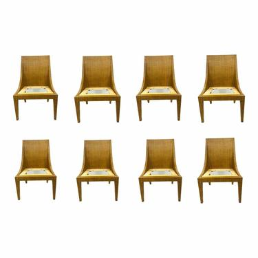 Jacques Garcia for Baker / McGuire Customizable Rattan Dining Chairs - Set of 8