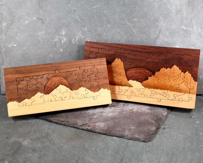 Handcrafted Wooden Puzzles - Made in New England - One-of-a-Kind Unique Handcrafted Relief Puzzle - 54 & 26 Piece Puzzles | FREE SHIPPING by Bixley