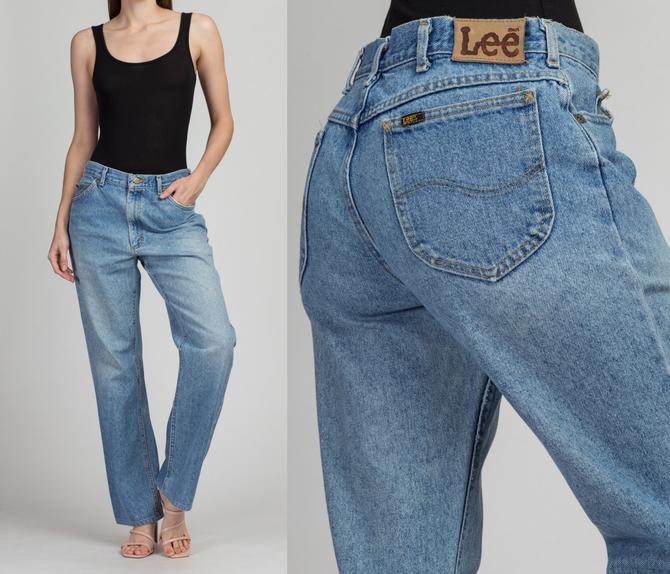 Vintage High Waist Lee Riders Unisex Jeans - 34x34, Men's Medium, Women's Large   90s Denim Made In USA Cotton Dad Jeans by FlyingAppleVintage