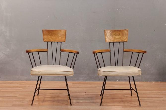 Richard McCarthy for Selrite Mid Century Ash & Iron Armchair