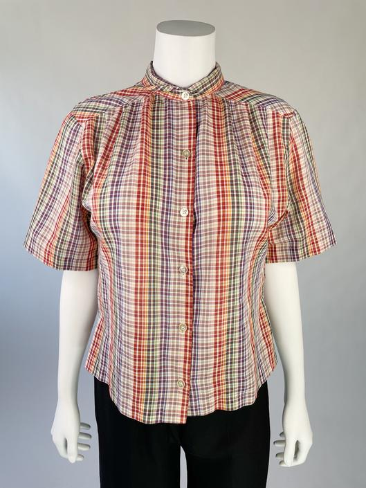1980's Plaid Camp Shirt