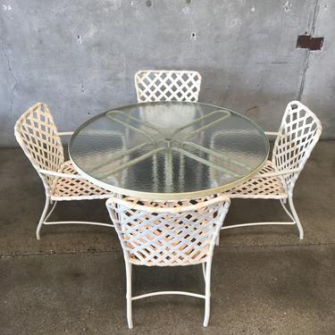 Brown Jordan Patio Set With Four Chairs & Table