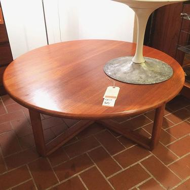Midcentury teak circular cocktail table